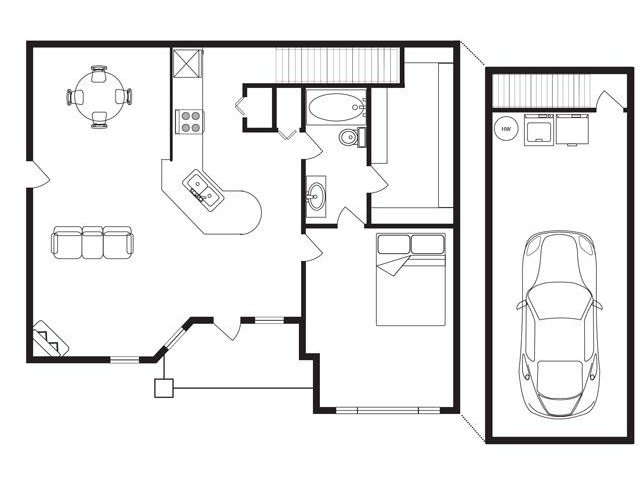 788 sq. ft. floor plan