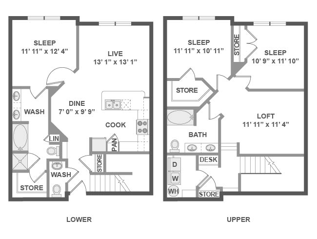 1,751 sq. ft. D7 floor plan