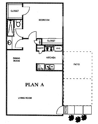 853 sq. ft. ARBOR floor plan