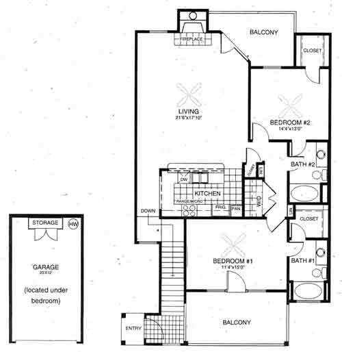 1,304 sq. ft. Avalon floor plan