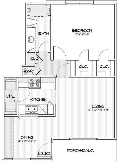 673 sq. ft. 30% floor plan