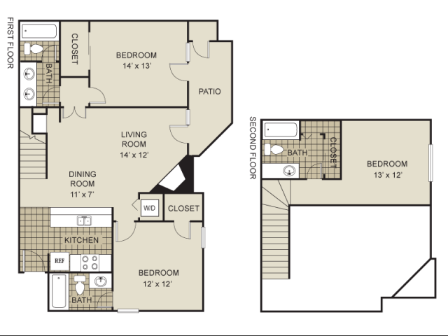 1,271 sq. ft. C1-B floor plan