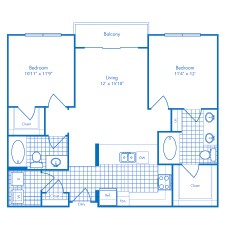 1,001 sq. ft. Atlantis floor plan