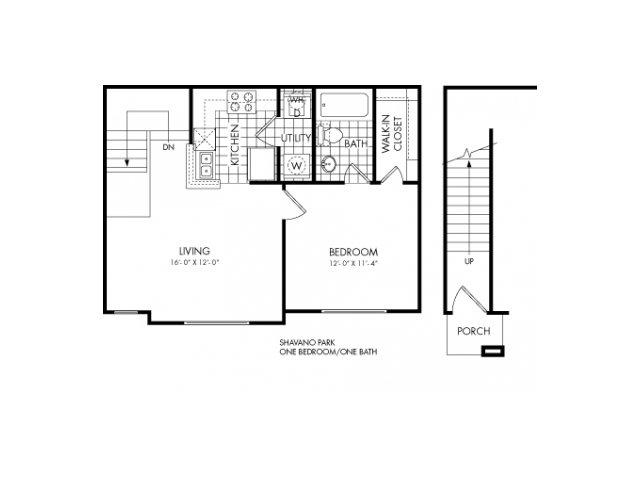 600 sq. ft. Shavano Park floor plan