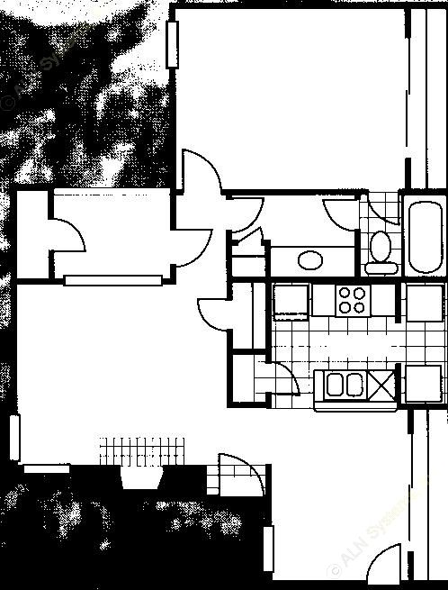 771 sq. ft. A floor plan
