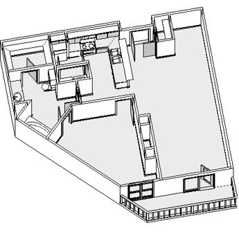 869 sq. ft. floor plan