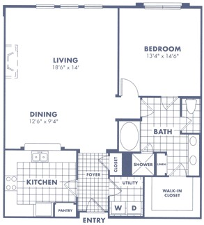 1,167 sq. ft. A1 floor plan