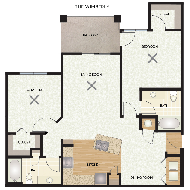 1,097 sq. ft. Wimberley floor plan