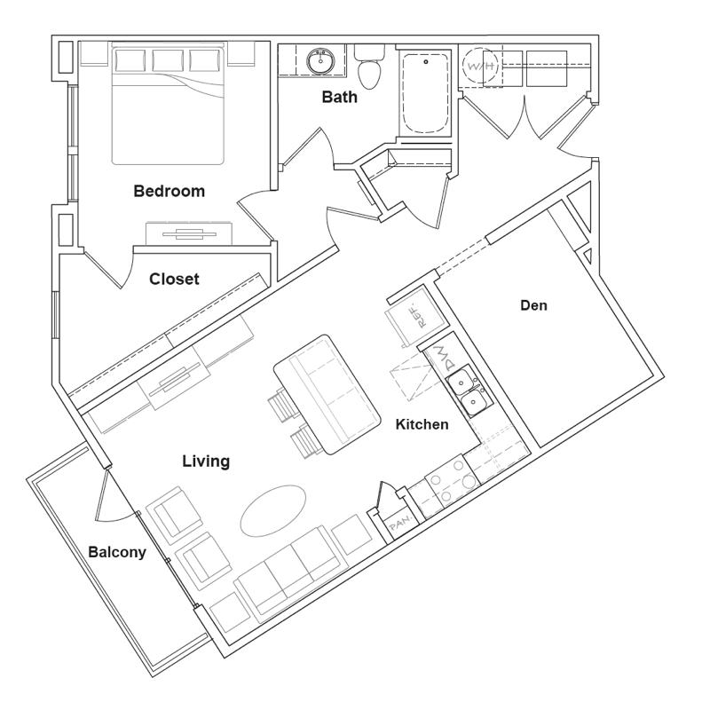 887 sq. ft. Big Bend floor plan
