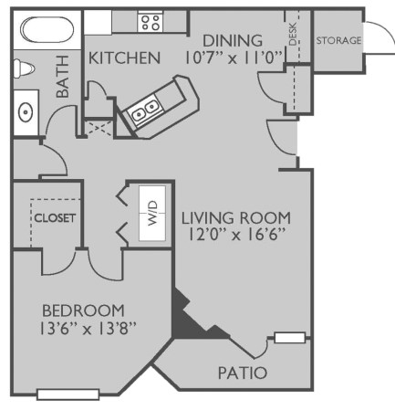 782 sq. ft. Scottsdale floor plan