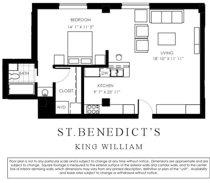 832 sq. ft. to 867 sq. ft. H floor plan