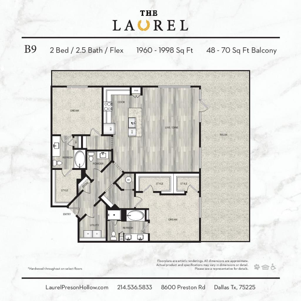1,960 sq. ft. to 1,998 sq. ft. B9 floor plan