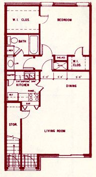 544 sq. ft. floor plan