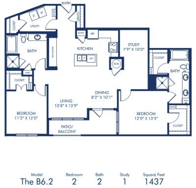 1,437 sq. ft. B6.2 floor plan