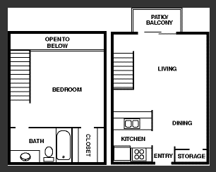 762 sq. ft. floor plan