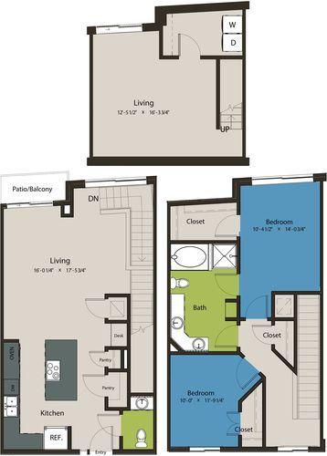 1,638 sq. ft. TSF floor plan