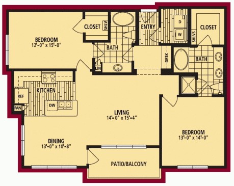 1,247 sq. ft. BELLO ALT floor plan