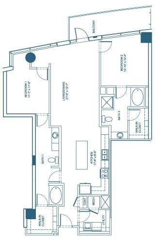 1,416 sq. ft. B4 floor plan