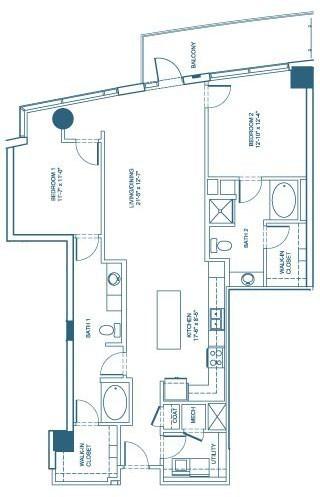 1,416 sq. ft. B4 floor plan