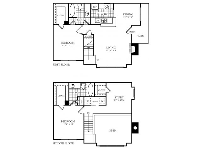 1,210 sq. ft. G floor plan