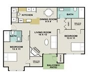 934 sq. ft. Thoroughbred floor plan