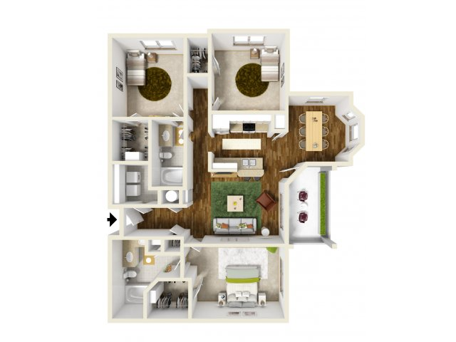 1,386 sq. ft. San Marcos floor plan