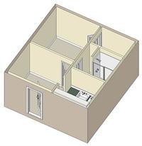 425 sq. ft. 60% floor plan