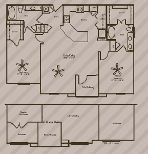 1,325 sq. ft. to 1,456 sq. ft. UTOPIA floor plan