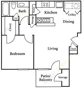 659 sq. ft. floor plan