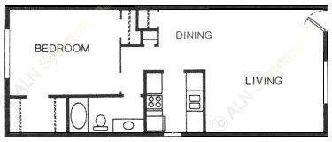 774 sq. ft. Palmetto floor plan