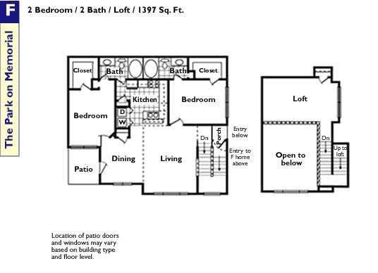 1,397 sq. ft. F floor plan