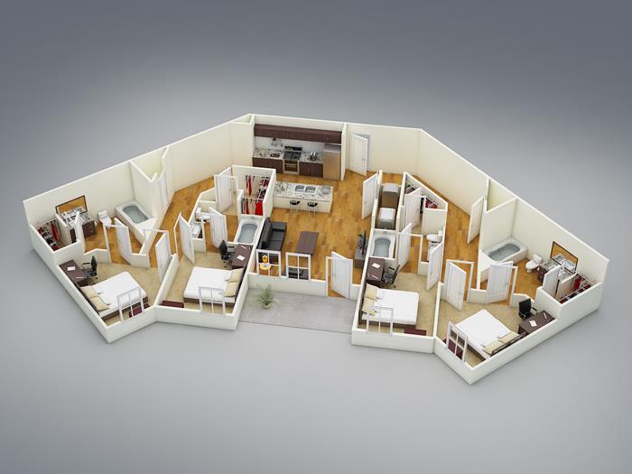 1,573 sq. ft. D3 floor plan