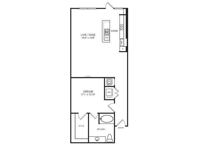 957 sq. ft. Ranger floor plan