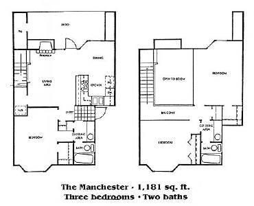 1,181 sq. ft. C1 floor plan