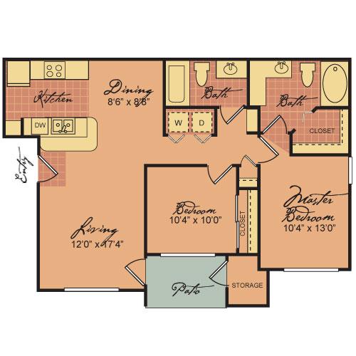 945 sq. ft. 60-SIERRA GRANDE floor plan