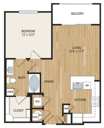 746 sq. ft. Armstrong floor plan