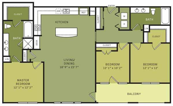 1,435 sq. ft. floor plan