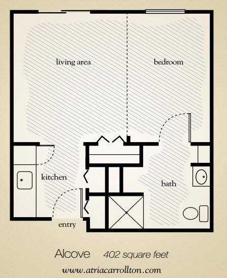 402 sq. ft. floor plan