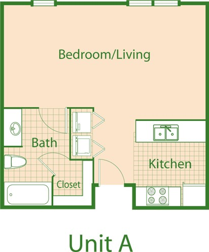 528 sq. ft. Hummingbird/Mkt floor plan