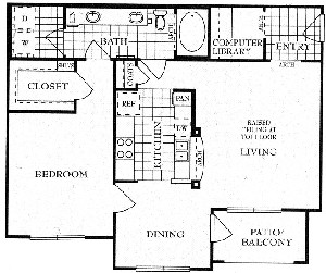 919 sq. ft. A4 floor plan
