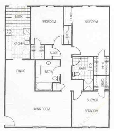 1,335 sq. ft. floor plan