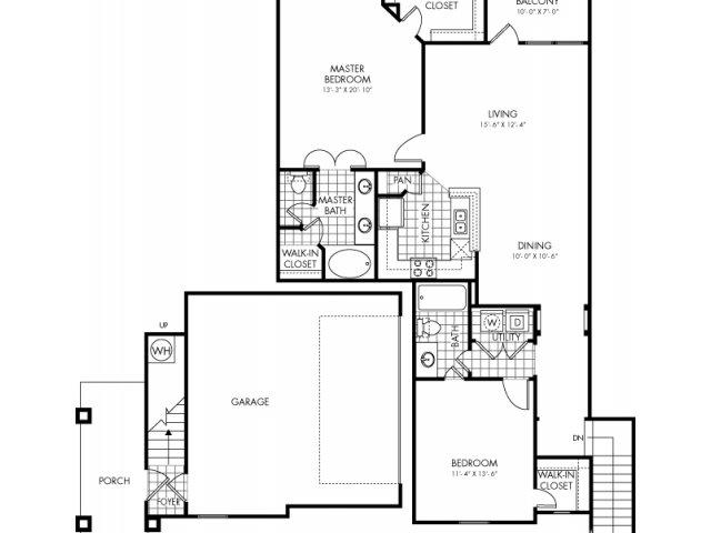 1,364 sq. ft. Cibilo Canyon floor plan