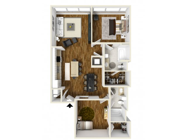 1,149 sq. ft. Southfork floor plan