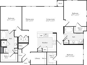 1,633 sq. ft. C2 floor plan