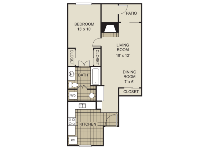 716 sq. ft. A7-C floor plan