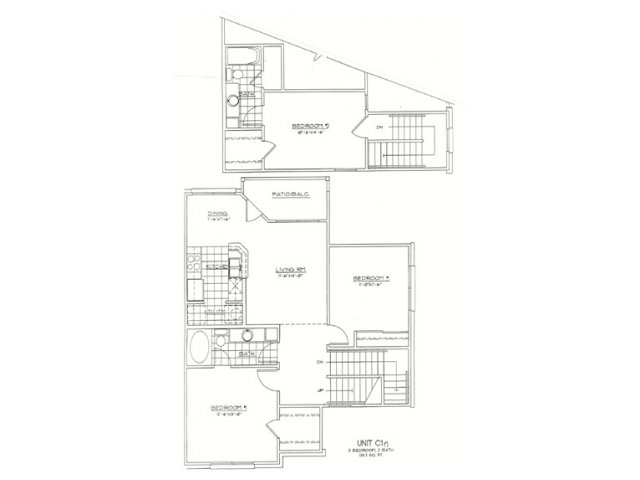 1,357 sq. ft. C1N floor plan