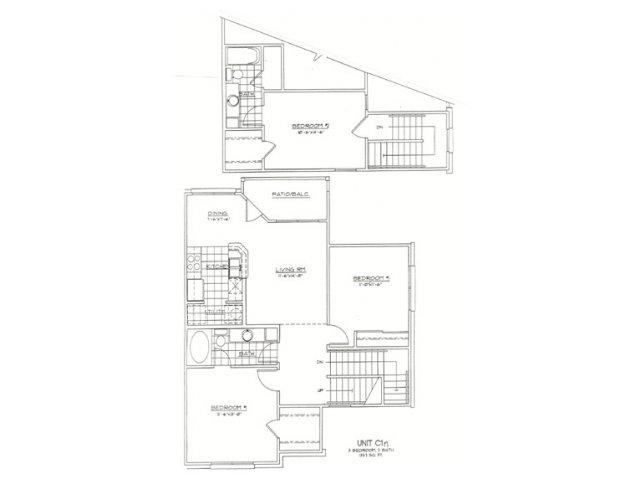 1,357 sq. ft. C1N floor plan