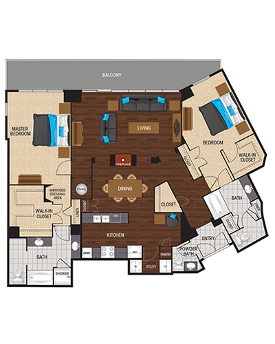 1,876 sq. ft. to 1,937 sq. ft. Jet Black floor plan
