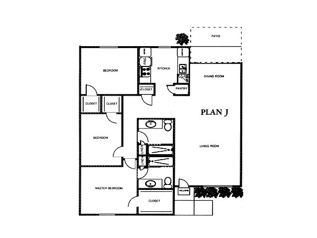 1,287 sq. ft. MAGNOLIA floor plan