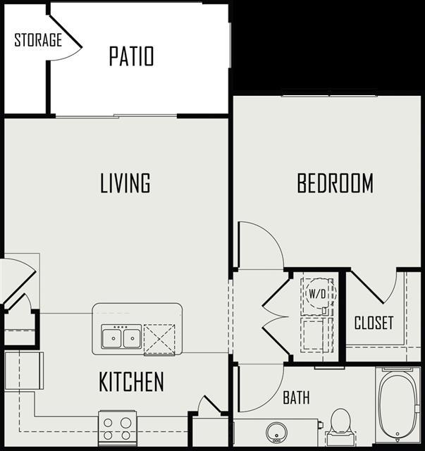 625 sq. ft. Brazos floor plan